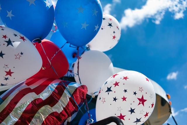 4 Juillet ballons Etats-Unis